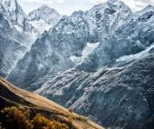 Dombai. Scenery of rockies in Caucasus region in Russia — Stock Photo