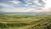 Spring landscape with Caucasus green mountains — Stock Photo