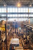 Steam turbine on power plant — Stock Photo