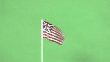 Skutečné kontinentální vlajka Spojených států — Stock video