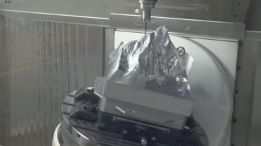 Machine tool for processing metal — Stock Video