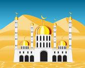 Moschea nel deserto — Vettoriale Stock