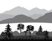 Дикий пейзаж — Cтоковый вектор