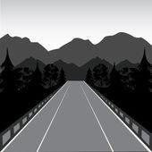 Road in mountain — Stock Vector