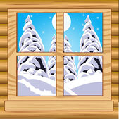 View from window — Stock Vector