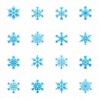 Set of blue snowflakes icon — Stock Vector #57986061