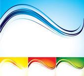 Four color abstract backgrounds — Vecteur