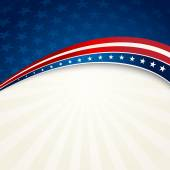 Independence Day patriotic background — Wektor stockowy