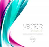 Abstract wave template  background brochure design — Stock Vector