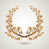 Vector gold laurel — Stock Vector