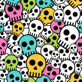 Seamless skull background — Stock Vector