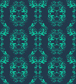 Abstract vintage seamless damask pattern — Cтоковый вектор