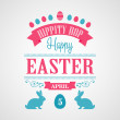 Happy Easter Typographical Background — Stock Vector #67967763