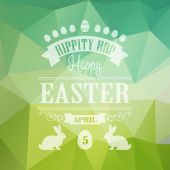 Happy Easter Typographical Poster — Stock Vector
