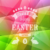 Happy Easter Typographical Poster — ストックベクタ