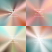 Abstract colorful blurred vector backgrounds. — Stock Vector