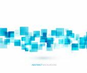 Blue shiny squares technical background. Vector  — Stock Vector