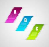 Moderne infographics sjabloon gescheurd papier stijl. — Stockvector