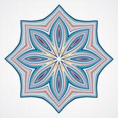 Ethnic Fractal Mandala. — Stock Vector