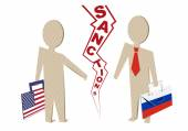USA sanctions against Russia — Stock Vector
