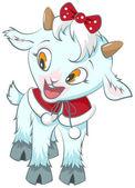 Little goat. Symbol 2015 year — Stock Vector