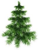 Fluffy green Christmas tree — Stock Vector