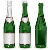 Set bottle of Champagne — Stock Vector