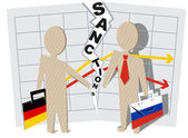 Germany sanctions against Russia — Stock Vector