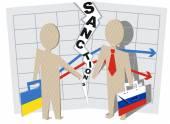 Ukraine sanctions against Russia — Stock Vector