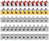 Set spiral paper binder — Stock Vector