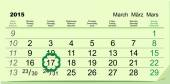 Saint Patricks Day. Calendar March 17 — Stock Vector