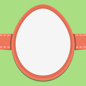 Easter card template in the frame of eggs — Stock Vector