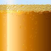 Beer background. Texture of drink in glass — Stock Vector