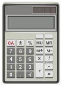 Solar Calculator for simple calculations — Stock Vector