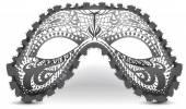Black eye mask — Stock Photo