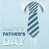 Striped tie on a background of the shirt. Template greeting card for Fathers Day — Stock Vector
