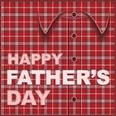 Template cards for fathers day. Plaid shirt — Διανυσματικό Αρχείο