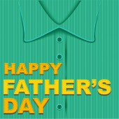 Happy Fathers Day. Template greeting card — Stock Vector