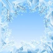 Frame of fir branches frozen — Stock Vector