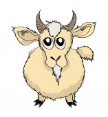 Sketch Goat Vector Illustration — Stock Vector