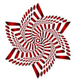 Red Blossom Blooming (motion illusion) — Stock Vector