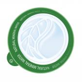 Emblem. Mineral water. Leaves and drop. — Cтоковый вектор