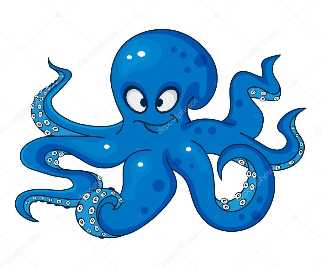 Blue cartoon octopus stock vector veronichka 94917842 for Octopus in cartoon