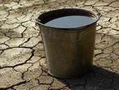 Bucket full of water — Stock Photo
