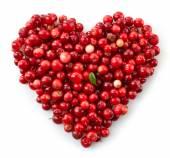 Heart shape of fresh berries — Stock Photo