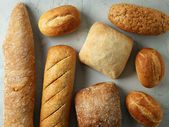 Freshly baked bread buns — Stock Photo