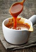 Melted caramel sauce — Stock Photo