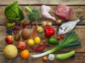 Paleo diet products — Stock Photo