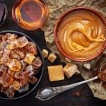 Various kinds of caramelized sugar — Stock Photo #65044991
