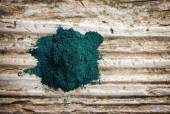 Heap of spirulina algae powder — Stock Photo